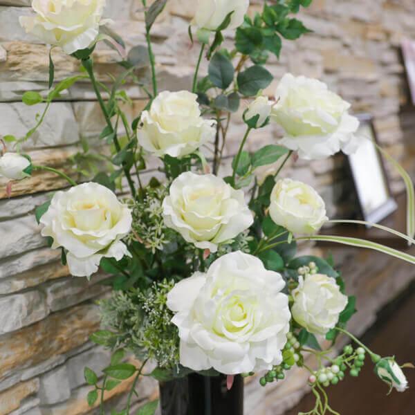 外来受付 白い花